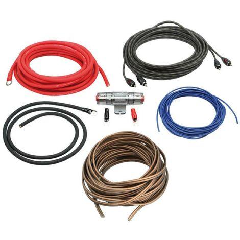 Kit pour amplificateur 40A Alim 10mm2 + Audio 2x1.5mm2 Generique
