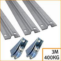 Kit pour portail coulissant rails 2 m