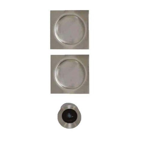 Kit pour porte à galandage - poignées carrées - bec de cane - inox
