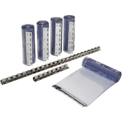 Kit pour rideaux à lanières PVC transparentes - 30 x 225 cm