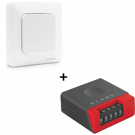 Kit pour va et vient sans pile EnOcean - 1 interrupteur simple + 1 micro-module éclairage