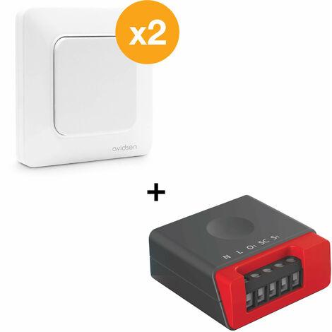 Kit pour va et vient sans pile EnOcean - 2 interrupteurs simple + 1 micro-module éclairage