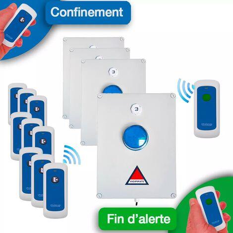 Kit 'PPMS 2' alerte / alarme / confinement / attentat-intrusion / terrorisme - modulable radio sans-fil longue distance