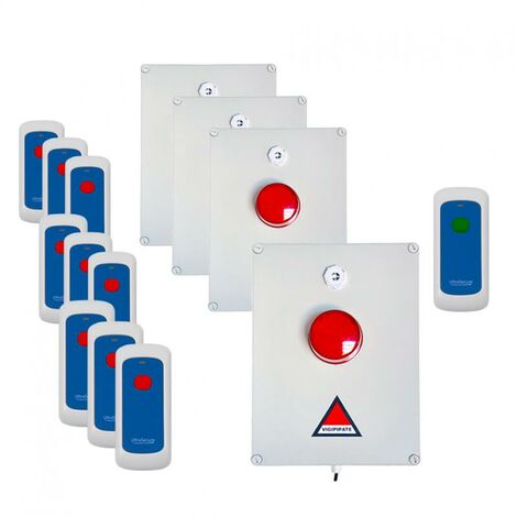 Kit 'PPMS 2' alerte / alarme incendie évacuation - modulable radio sans-fil longue distance
