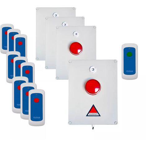 Kit 'PPMS 2' alerte / alarme incendie - modulable radio sans-fil longue distance