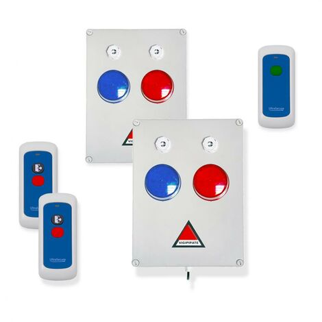 Kit 'PPMS 3' double alerte confinement & incendie - Modulable radio sans-fil longue distance