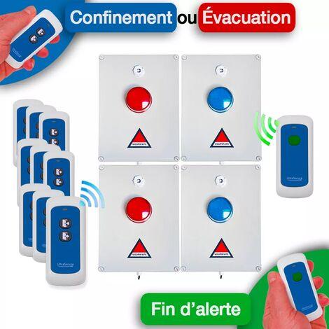 Kit 'PPMS 4' double canaux confinement / incendie - Modulable radio sans-fil longue distance