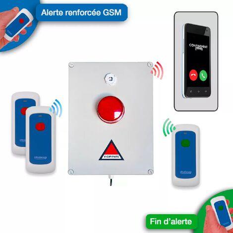 Kit 'PPMS 5' renforcé GSM incendie - modulable sans-fil longue distance