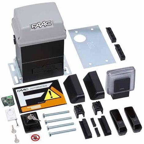 KIT PRATICO FAAC hydraulique complète coulissant 600KG 230V SAFE