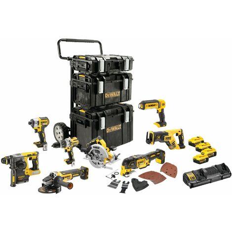 Kit Premium - 8 Outils Electroportatifs - 4 Batteries - 1 Chargeur - 18 V 5 Ah - XR - DEWALT, DCK853P4-QW