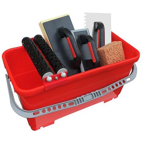 Kit PRO spécial carreleur avec bac 24 Litres + 4 accessoires - Diamwood - -