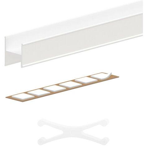 Kit profil en H pour porte 18 mm - L 1800 mm - blanc - Blanc