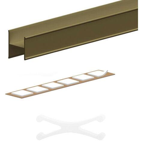 Kit profil en H pour porte 19 mm - L 1800 mm - bronze - Bronze