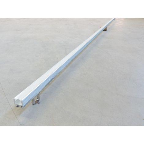 Kit profilé alu orientable longueur 2m 20X20mm diffuseur opale avec embouts + étriers pour bandeau LED TECH 2 TRAJECTOIRE 004695