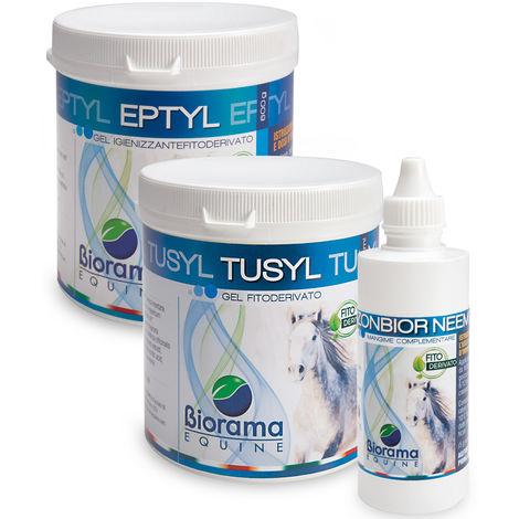 KIT PRONTO SOCCORSO CAVALLI 1 Tusyl più 1 Eptyl più 1 Ozonbior neem