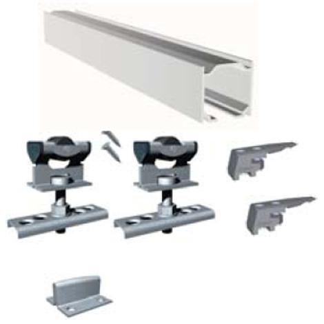 Kit Puerta Corredera Profesional Aluminio Sf-E40 - Saheco - 640/20 - 2 Metros