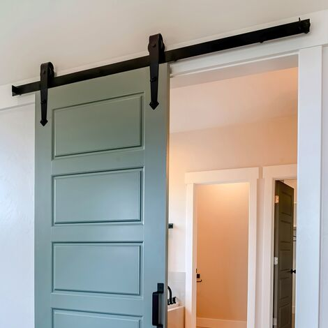 Kit puerta corrediza deslizante 244 cm montaje en pared cargable max. 150 kg