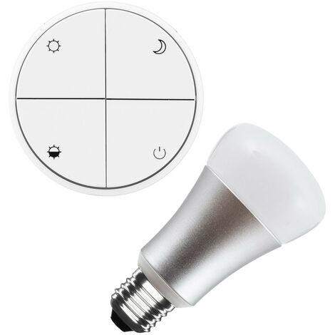 Kit Pulsador Wireless Regulable + Bombilla LED 8W