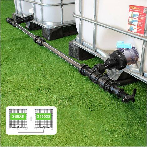 Kit Raccordement 2 Cuves eau 1000 L - S60X6 / S100X8