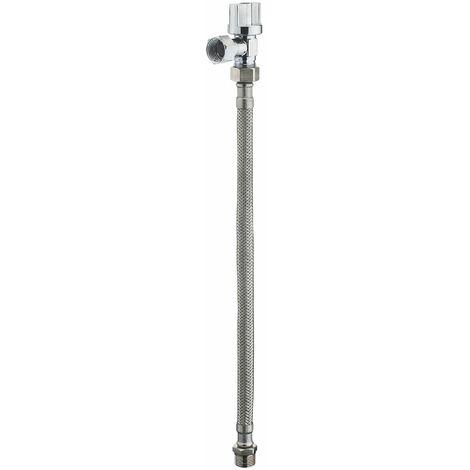Kit raccordement wc flexible 30 cm + robinet d'arrêt 1/4t chromé mf12x17 NOYON & THIEBAULT