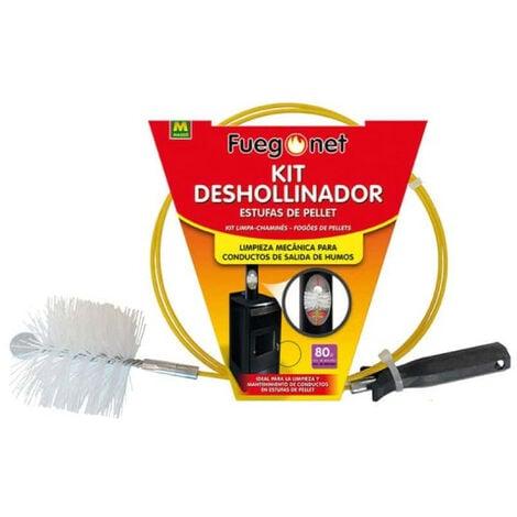 Kit ramoneur MASSO - pour poêles à granulés - brosse 80mm - 85890