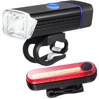 Kit rechargeable USB pour phare LED et feu arrière LED Lumière d'avertissement vélo LED Lampe Éclairage Vtt vélo