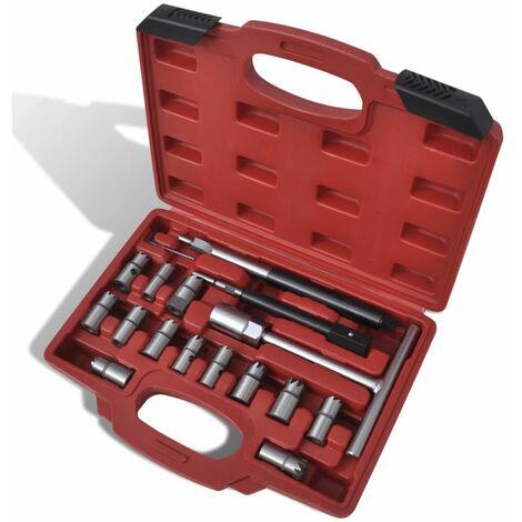 Kit rectificateur de siege d'injecteur Diesel 17 pieces