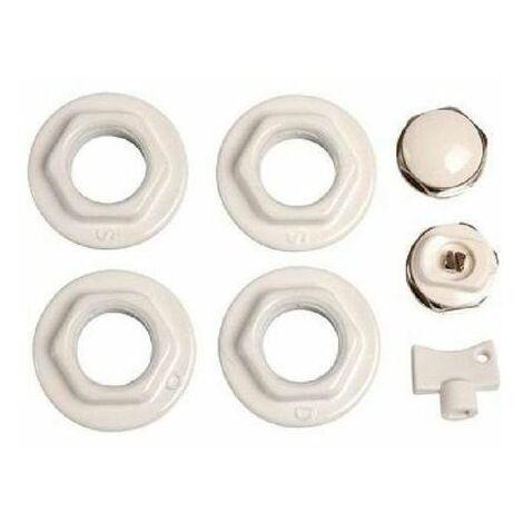 Kit réduction joints (1/2» blanc) pour radiateur aluminium