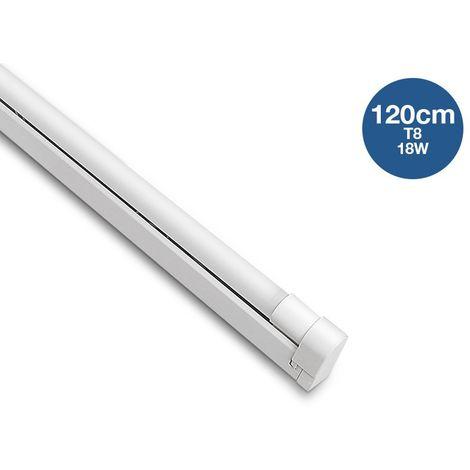 Kit réglette + tube LED T8 120cm 18W | Blanc Froid