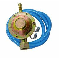 Kit regolatore gas con tubo 2 mt