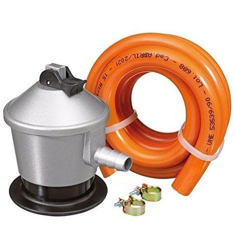 Kit Regulador Gas Butano con Valvula de Seguridad