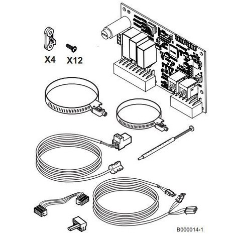 Kit regulation pour vanne 3 v