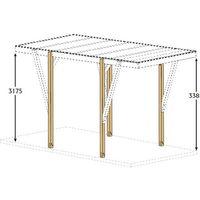 Kit réhausse Carport bois 23 m²