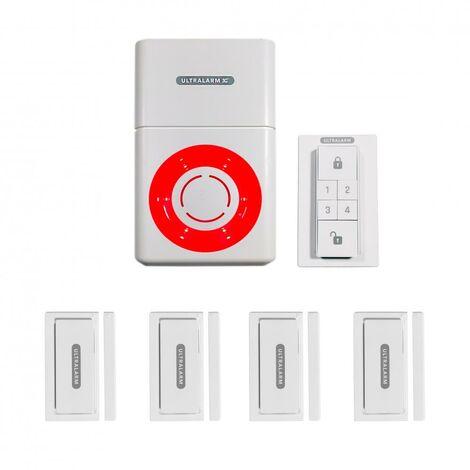 Kit renforcé détection d'ouverture - alarme 3G sirène à pile GSM autonome extérieure 100% sans-fil (ULTRALARM 3G)