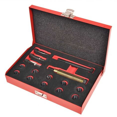 Kit reparación de rosca bujía incandescente 15 pzas M10x1,0mm