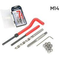 Kit Reparacion De Roscas Helicoil M14 X 1.5 X 12.4 Mm 15 Piezas