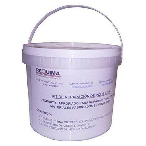 Kit Reparación resina de Poliester 1kg
