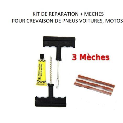 Kit réparation crevaison pneu tubeless voiture / moto PE