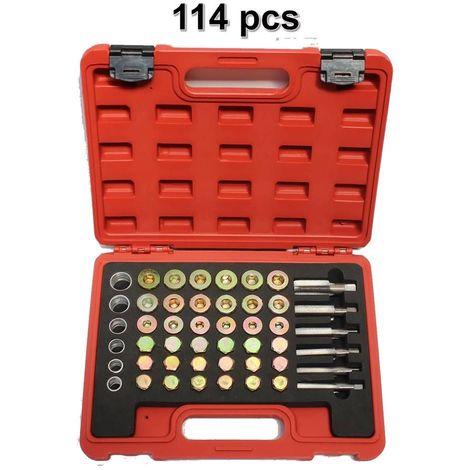 Kit Réparation Filetage Bouchon de Vidange M13 M15 M17 M 20 M22 114pcs
