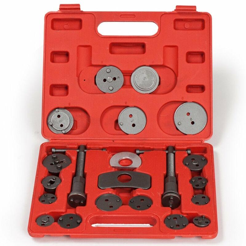 Helloshop26 - Kit repousse-piston pour étrier de frein 22 pièces avec 2 bobines + coffret rouge - Rouge