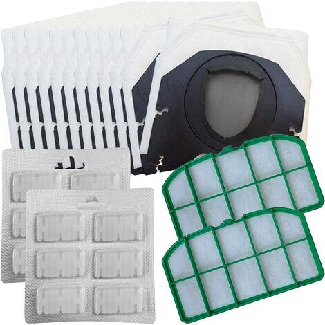 per folletto vk 130 131 12 sacchetti microfibra 20 prof kit filtri compatibile