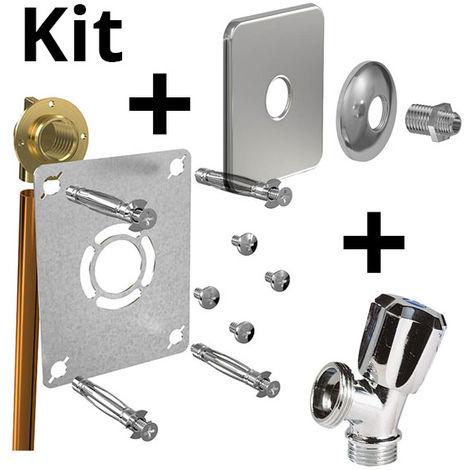 Kit ROBIFIX cuivre Ø14-F1/2 à souder+cache inox+rob MAL mono
