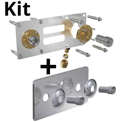 Kit ROBIFIX PER Ø12 - F 1/2 compression + cache inox 150mm