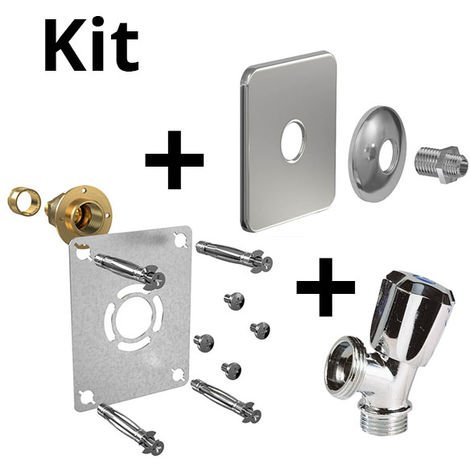 Kit ROBIFIX PER Ø16-droit F1/2 gliss+cache inox+rob MAL mono