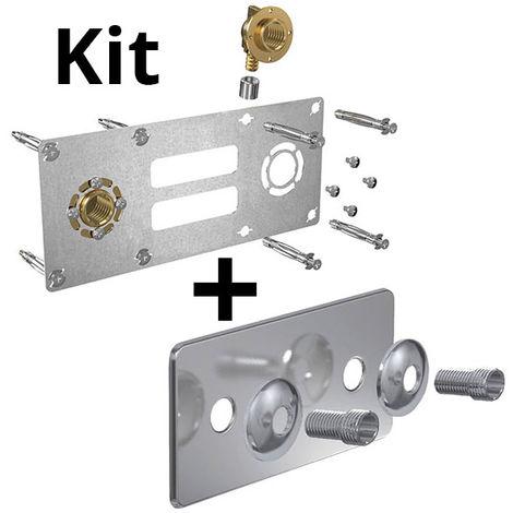 Kit ROBIFIX PER Ø16 - F 1/2 à sertir + cache inox 150mm