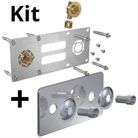 Kit ROBIFIX PER Ø16 - F 1/2 glissement + cache inox 150mm