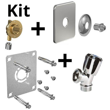 Kit ROBIFIX PER Ø16 -F1/2 à sertir+cache inox+rob MAL mono