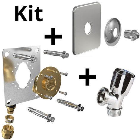 Kit ROBIFIX PER Ø16-F1/2 compression+cache inox+rob MAL mono