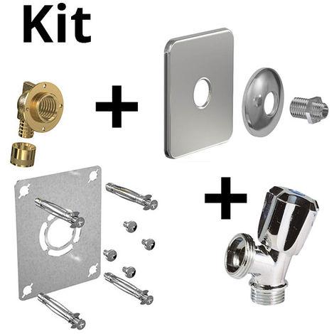 Kit ROBIFIX PER Ø16 -F1/2 glissement+cache inox+rob MAL mono