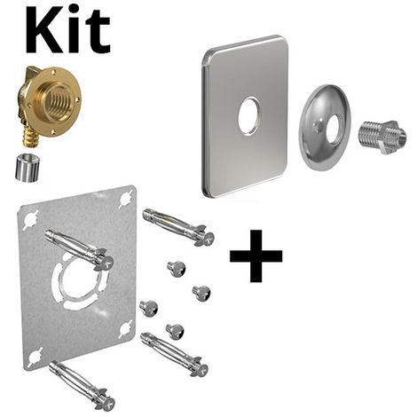 Kit ROBIFIX PER Ø16 -M 3/8 à sertir + cache inox mono